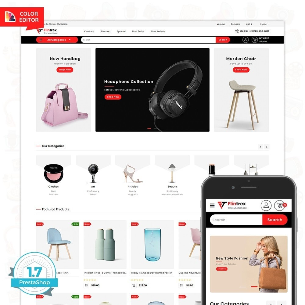 theme - Elettronica & High Tech - Flinterex - The MultiStore Theme - 1