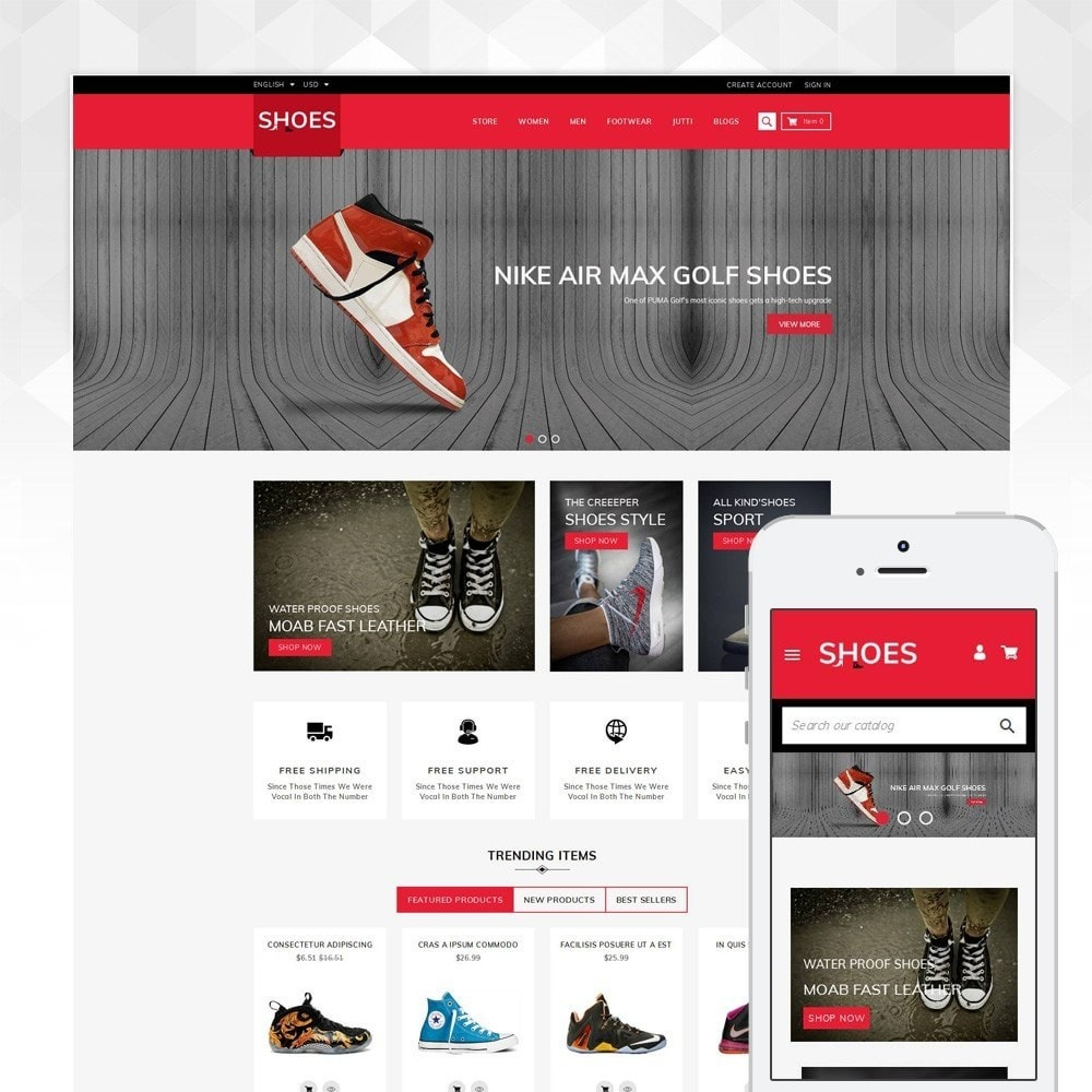theme - Moda & Obuwie - Shoes Footwear Store - 1