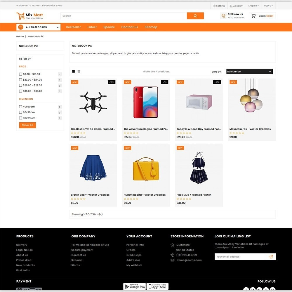 theme - Electronics & Computers - Mixmart - The MultiStore Theme - 3