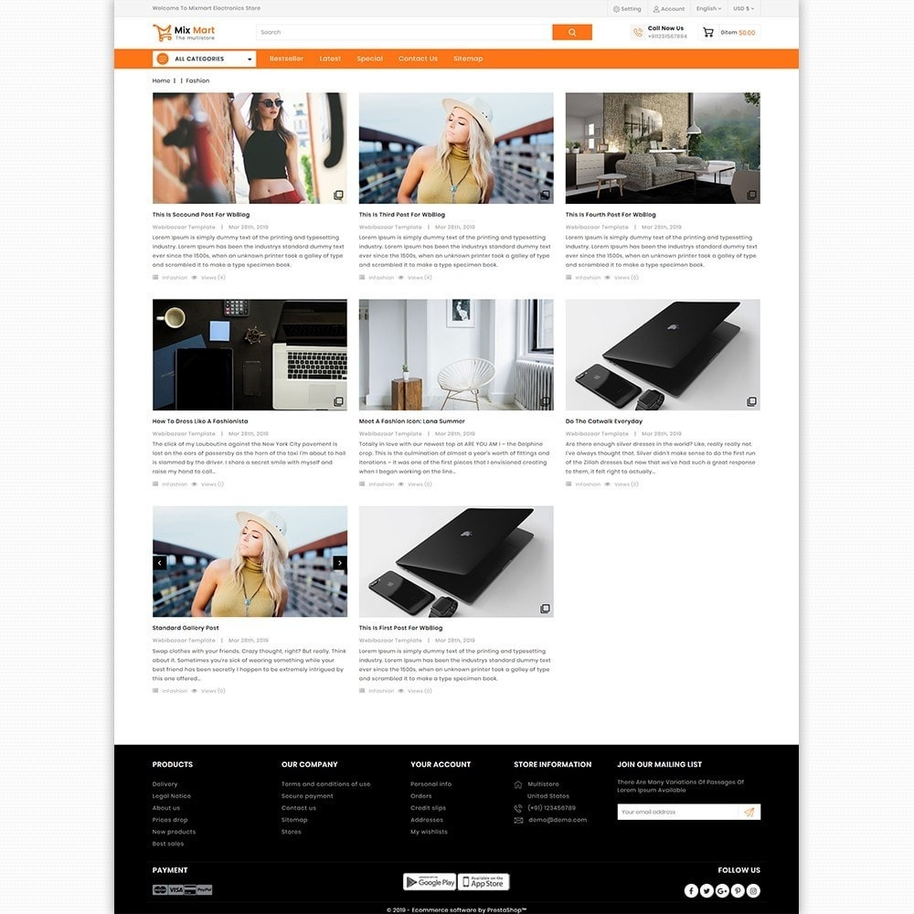 theme - Electronics & Computers - Mixmart - The MultiStore Theme - 5