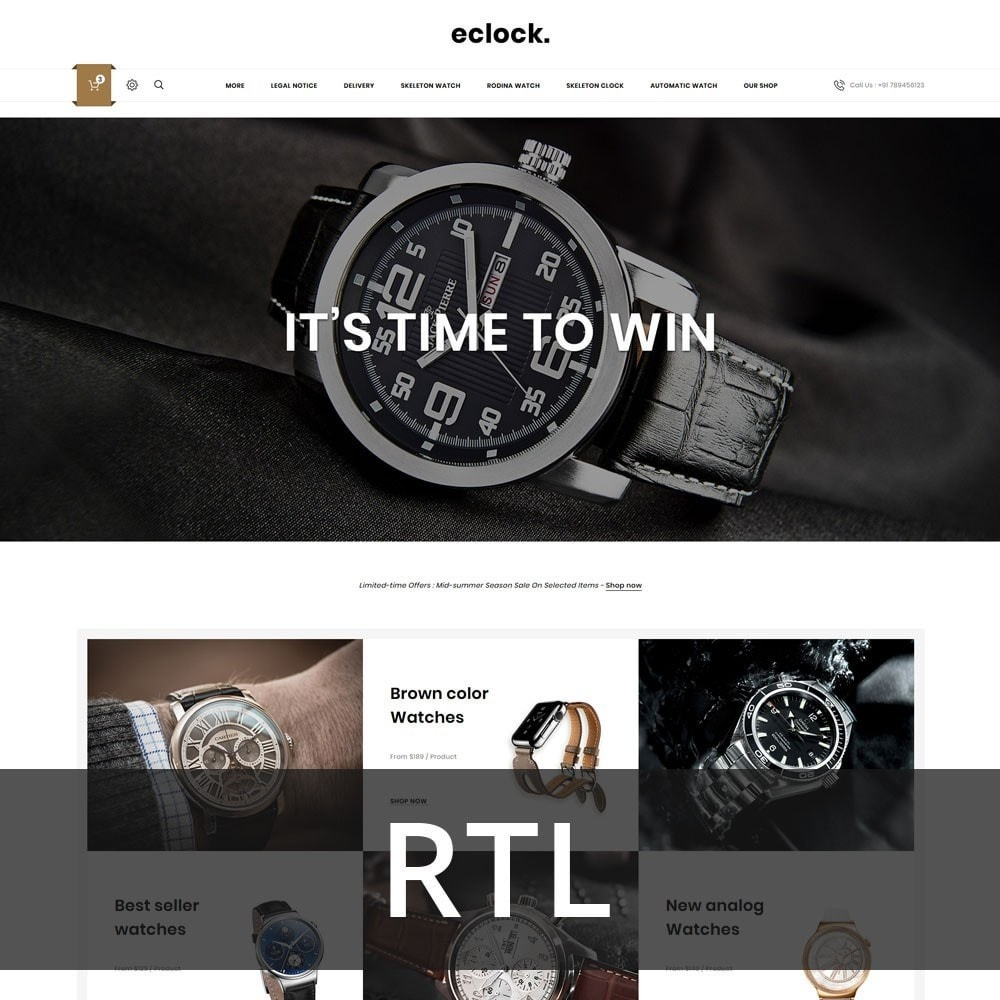 theme - Elektronik & High Tech - Eclock - The Electronic Store - 3