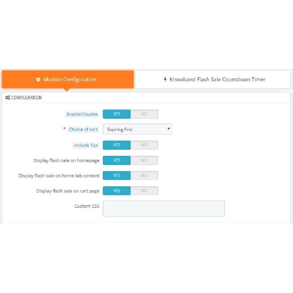 module - Закрытых и рекламных распродаж - Knowband - Flash Sale Countdown Timer - 4