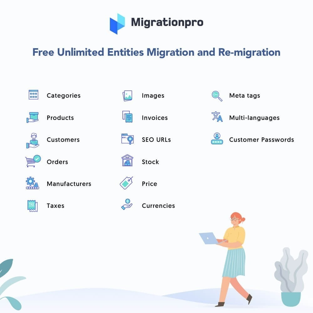 module - Migración y Copias de seguridad - MigrationPro: WooCommerce to PrestaShop Migration Tool - 2