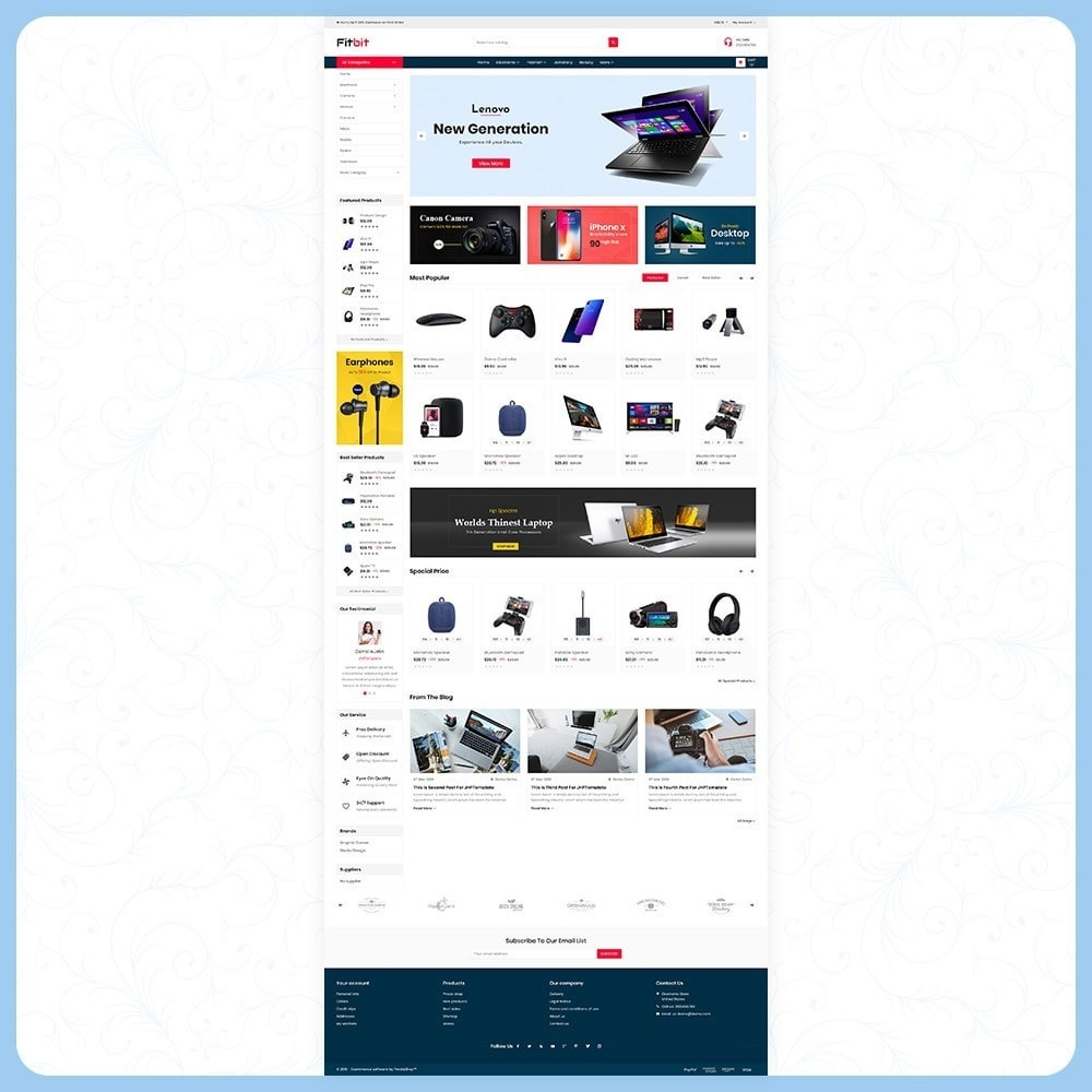 theme - Electronics & Computers - Fitbit Electronics Store - 2