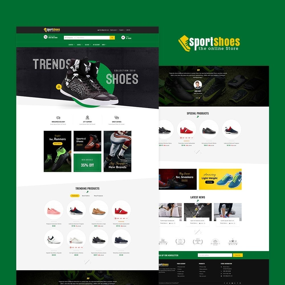 theme - Fashion & Shoes - Sports Shoes & Footwear - 2
