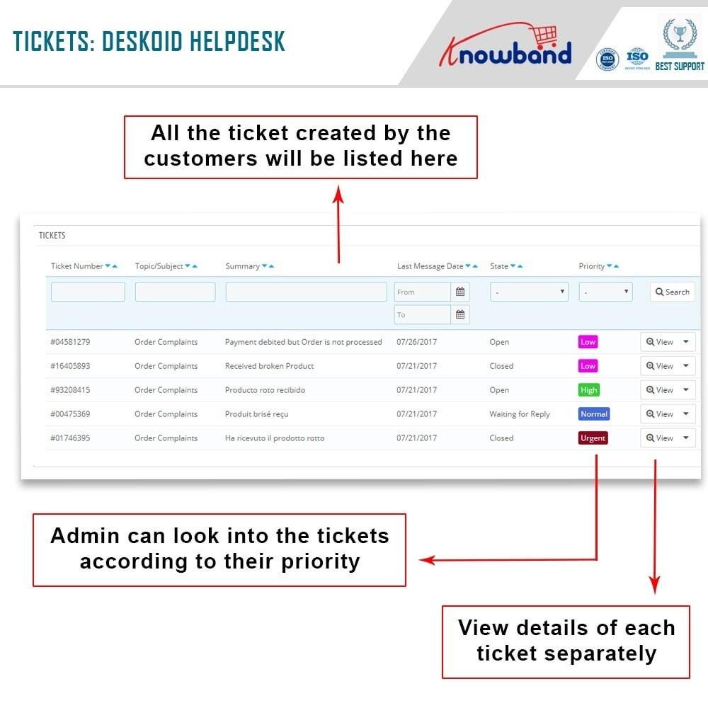 module - Kundenservice - Deskoid Helpdesk - 2