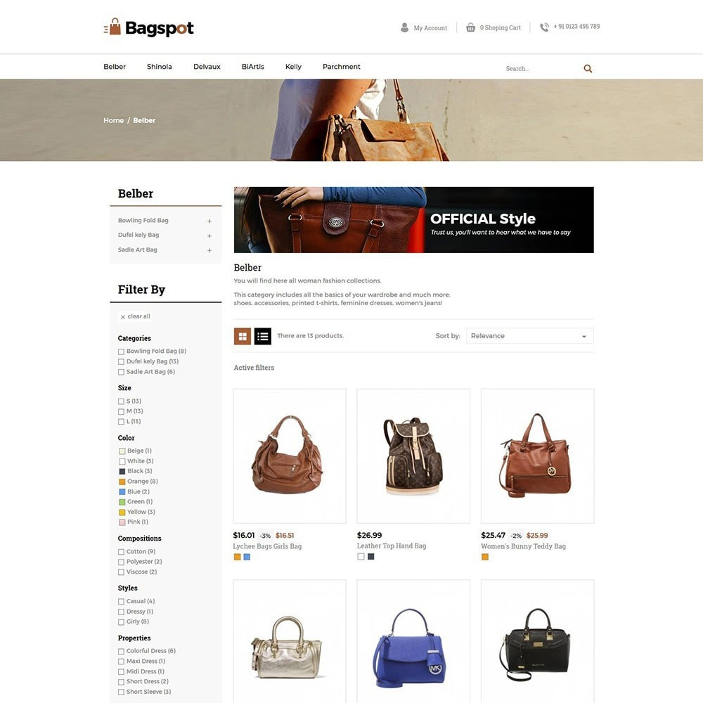 theme - Moda & Obuwie - Bagspot - Bag Fashion Store - 5