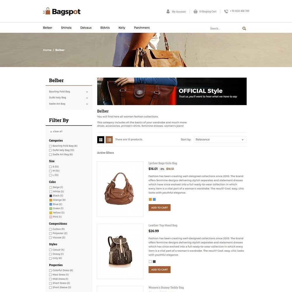 theme - Moda & Obuwie - Bagspot - Bag Fashion Store - 6