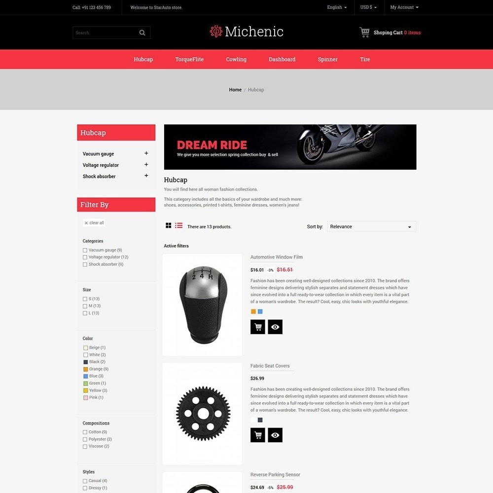 theme - Auto & Moto - Michenic Auto - Negozio di attrezzi per auto - 5