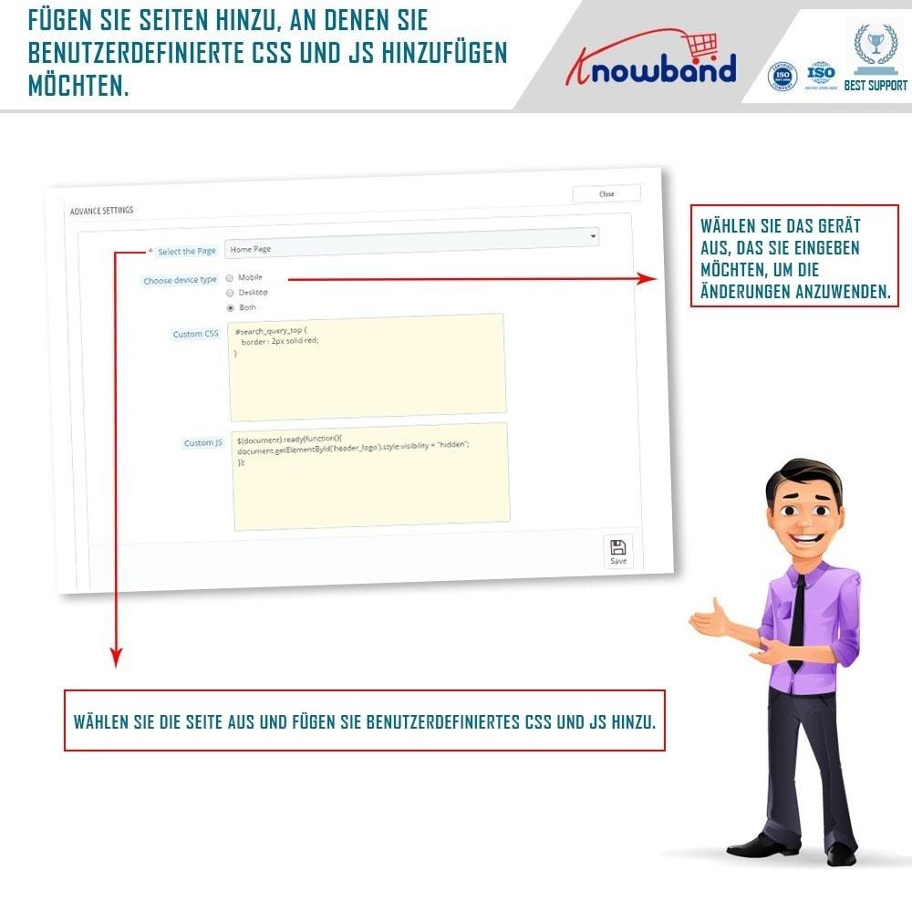 module - Personalização de página - Knowband – CSS e JS Personalizado - 4