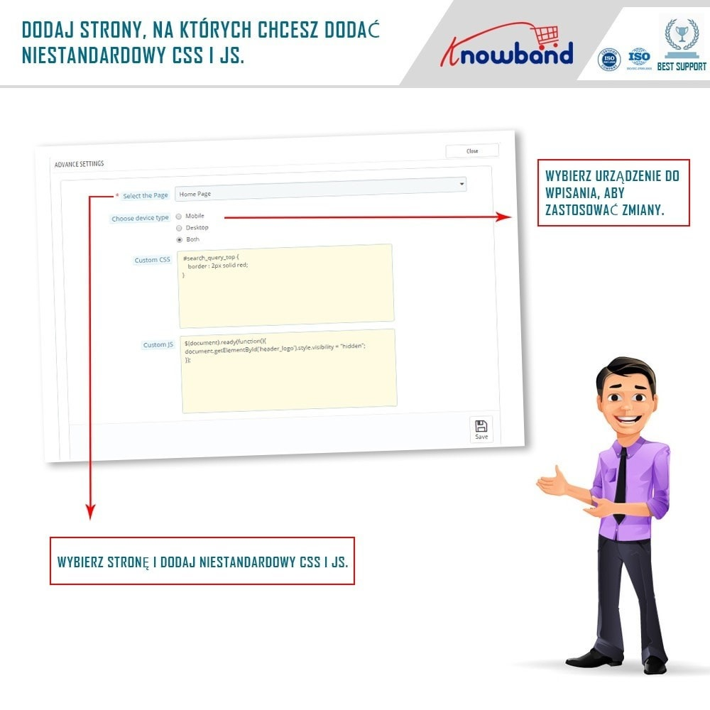 module - Personalizacja strony - Knowband - Custom CSS and JS - 4