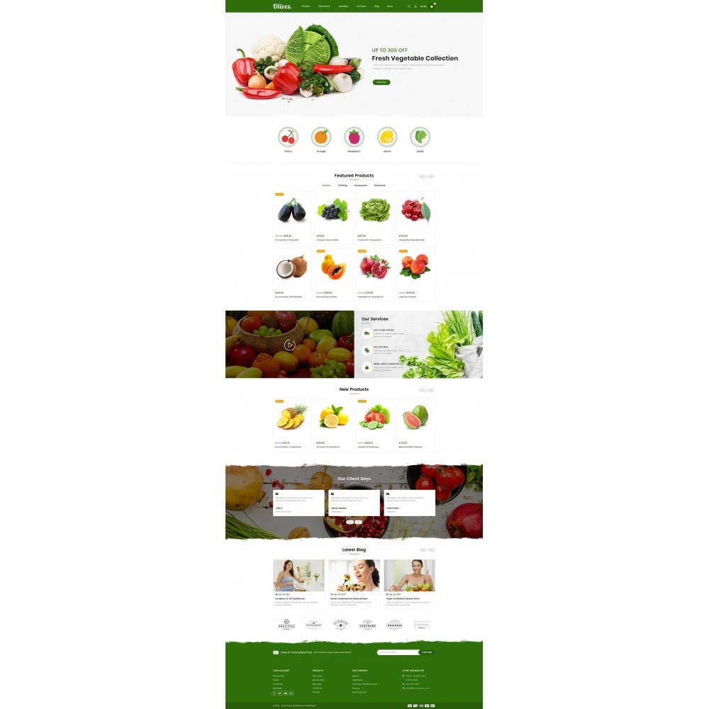 theme - Food & Restaurant - Olives - Organic Store - 2