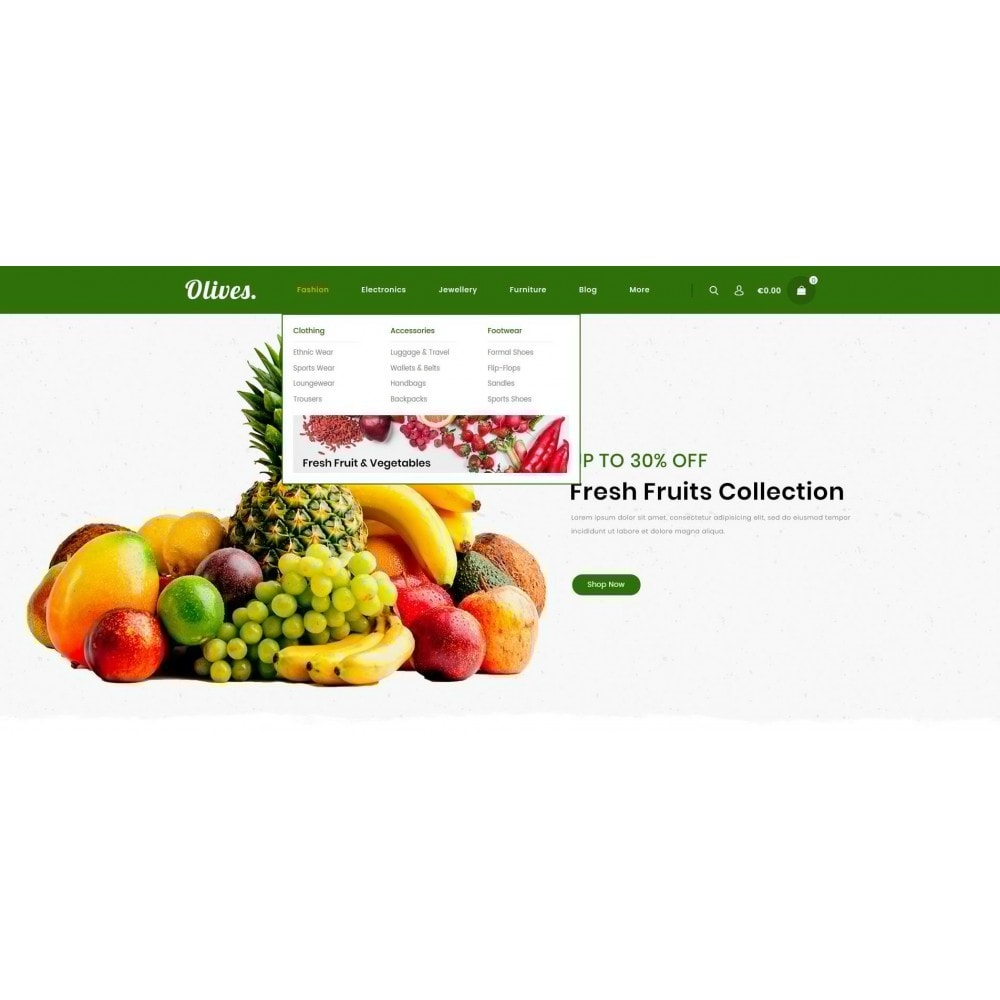 theme - Lebensmittel & Restaurants - Olives - Organic Store - 7
