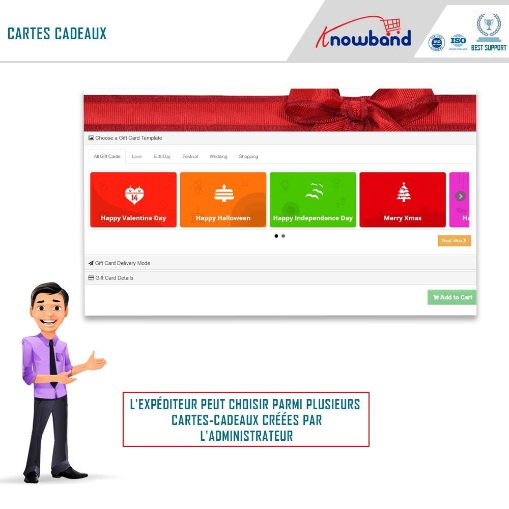 module - Liste de souhaits & Carte cadeau - Knowband - Gestionnaire de cartes cadeaux - 1