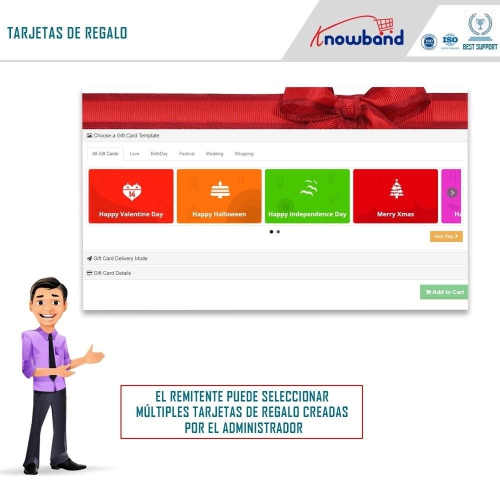 module - Lista de deseos y Tarjeta regalo - Knowband - Gift card manager - 1