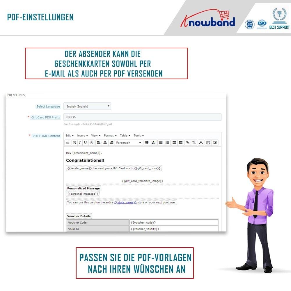 module - Wunschzettel & Geschenkkarte - Knowband - Gift card manager - 4