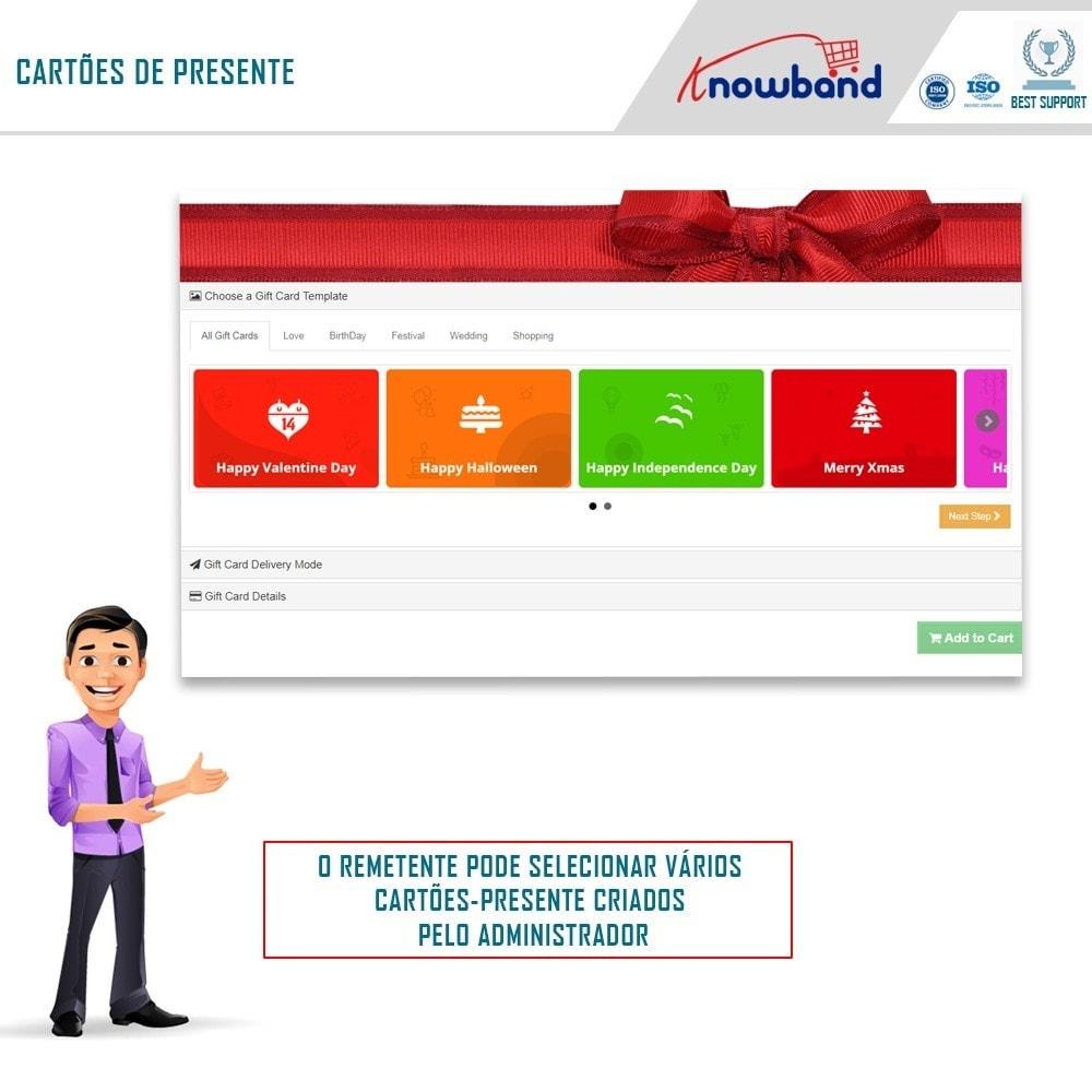 module - Lista de desejos & Vale-presente - Knowband - Gift card manager - 1