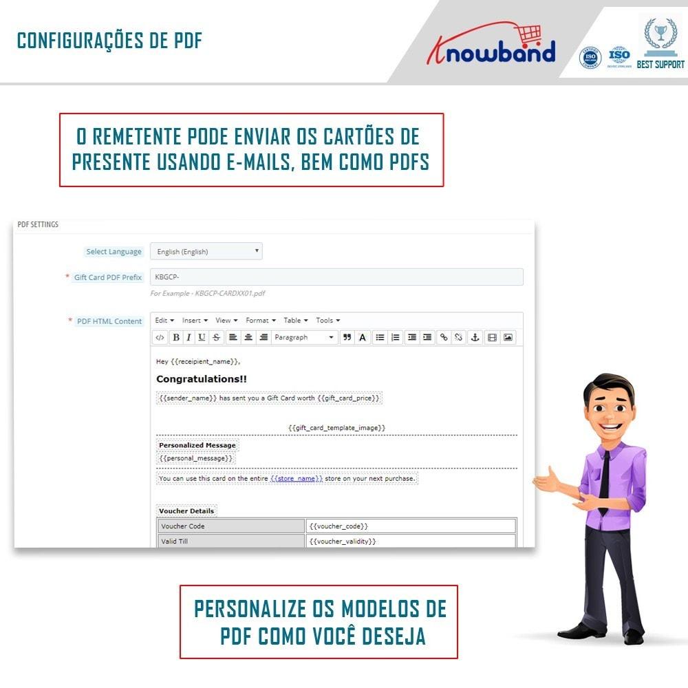 module - Lista de desejos & Vale-presente - Knowband - Gift card manager - 5