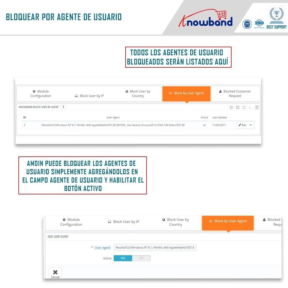 module - Seguridad y Accesos - Bloquear Bot/Usuario por IP, país o agente - 3