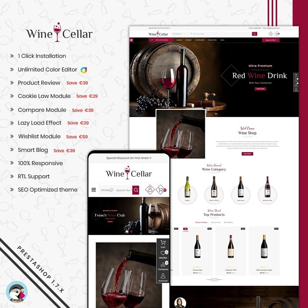 theme - Drink & Tobacco - Wine Cellar Shop - 1