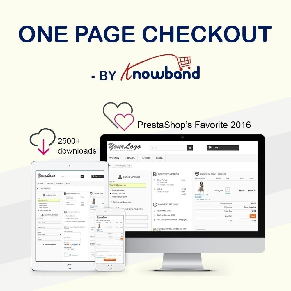 module - Express Checkout Prozesse - One Page Checkout, Social Login & Mailchimp - 1