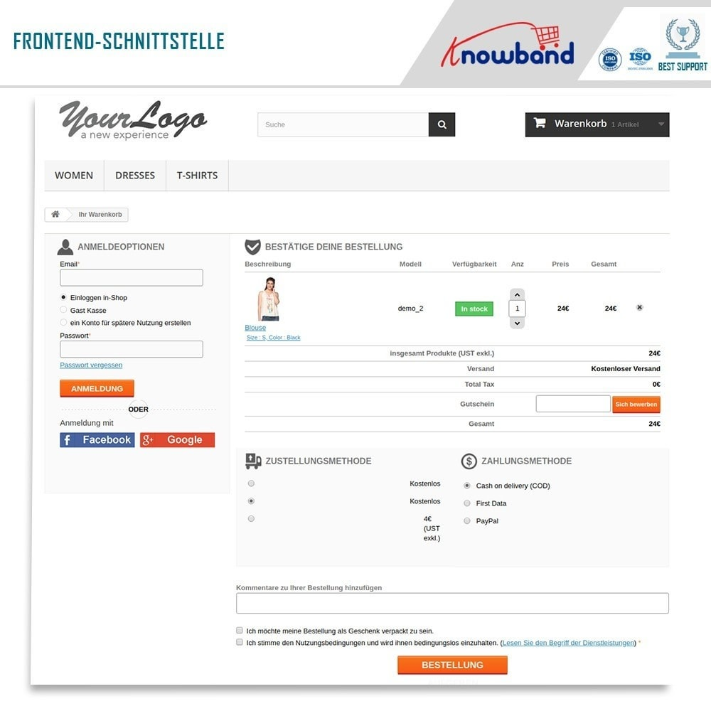 module - Express Checkout Prozesse - One Page Checkout, Social Login & Mailchimp - 2