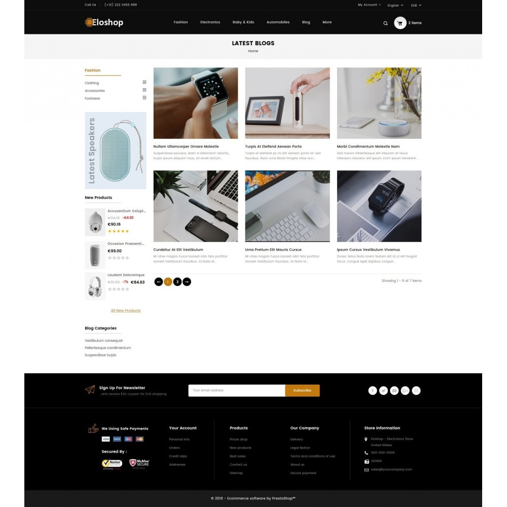 theme - Elektronica & High Tech - Eloshop - Electronics Store - 8