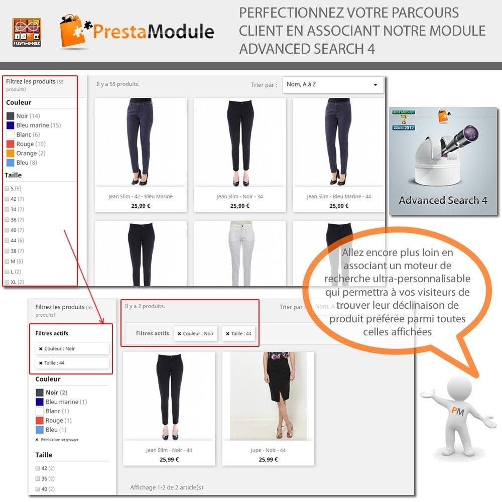 module - Déclinaisons & Personnalisation de produits - Products by Attributes: Afficher déclinaisons-attributs - 8