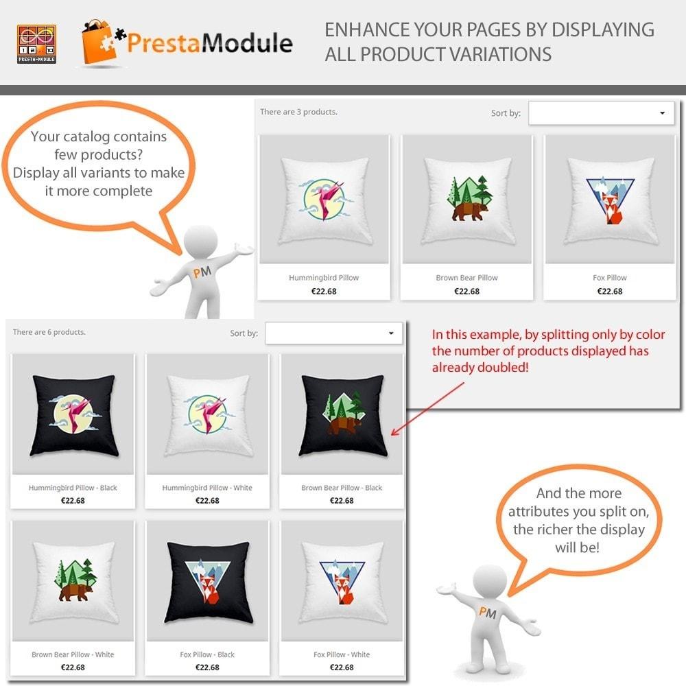 module - Versies & Personalisering van producten - Products by Attributes: Producten weergeven per kenmerk - 4