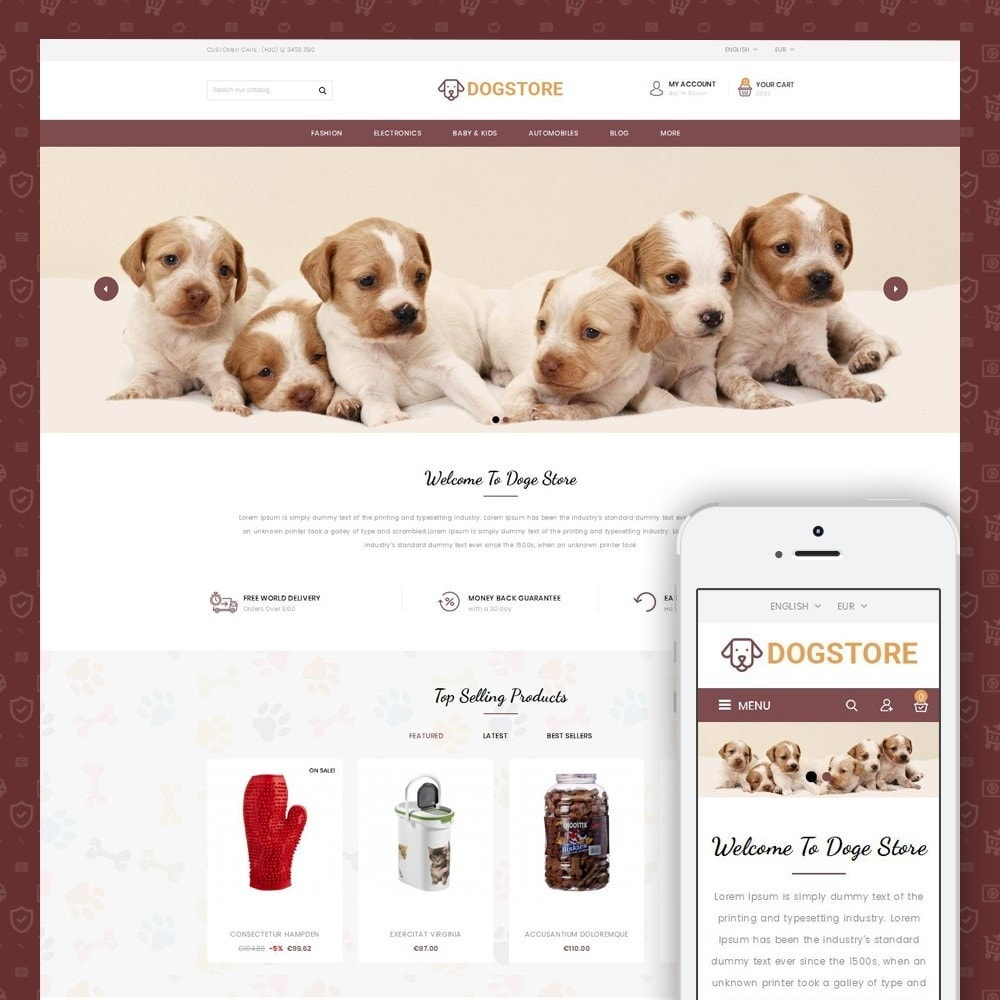 theme - Tier - Dog Store - Pet Food Store - 1