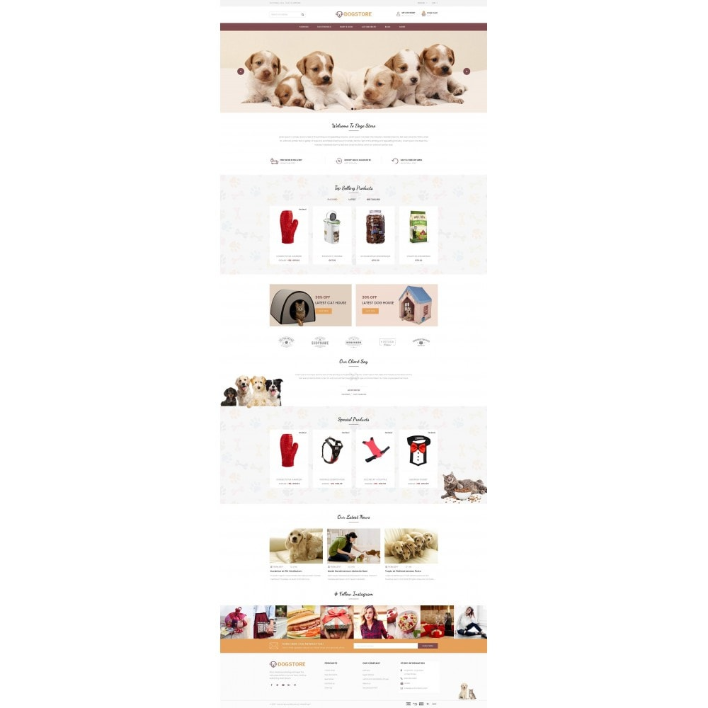 theme - Tier - Dog Store - Pet Food Store - 2