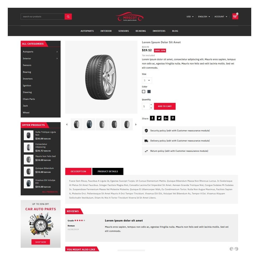 theme - Coches y Motos - Mascot Automotive & Cars Parts - 5