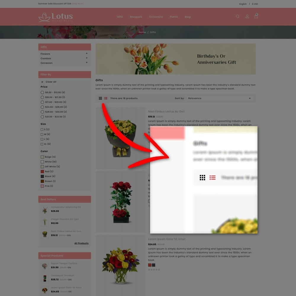 theme - Prezenty, Kwiaty & Uroczystości - Lotus Flower House - 7