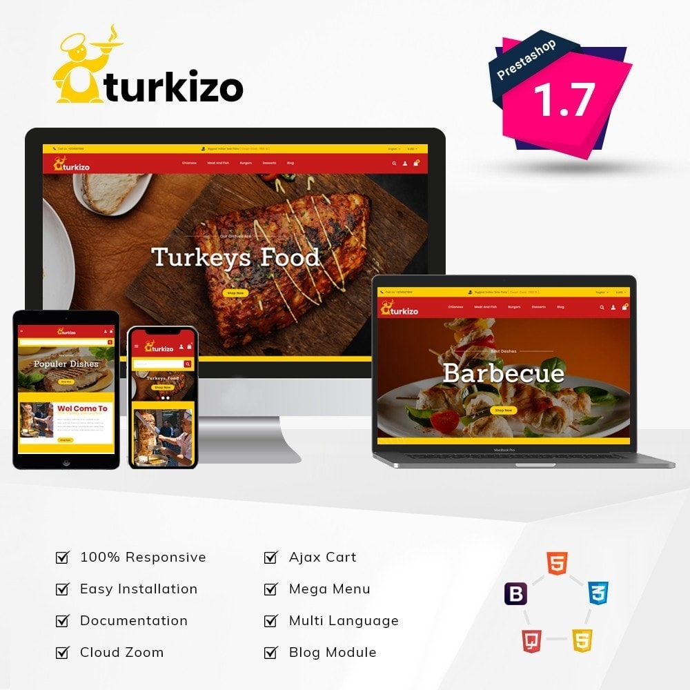theme - Food & Restaurant - Turkizo Turkish Food Store - 1