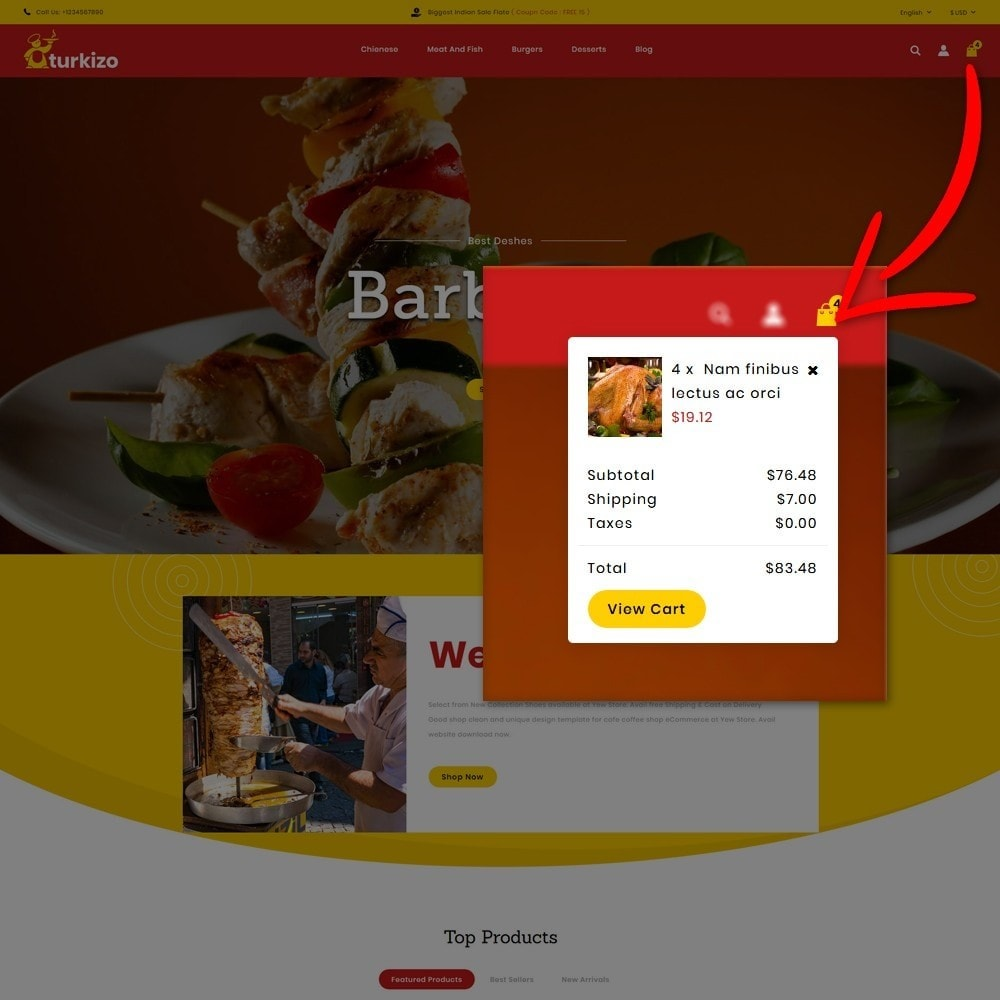 theme - Food & Restaurant - Turkizo Turkish Food Store - 6