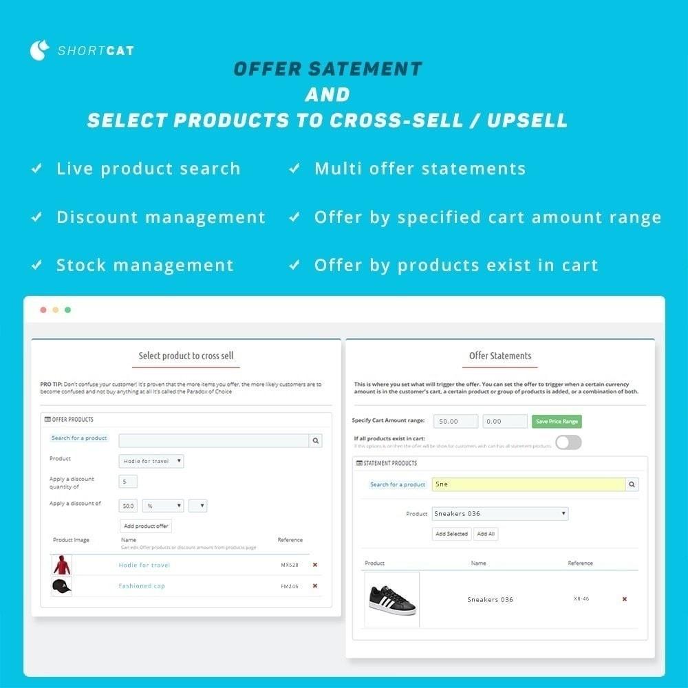 module - Ventes croisées & Packs de produits - Vente croisée: Compte à rebours, recommander, connexes - 3