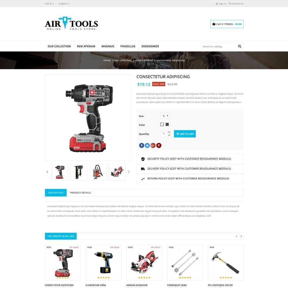 theme - Carros & Motos - AirTools - The Tool Store - 6