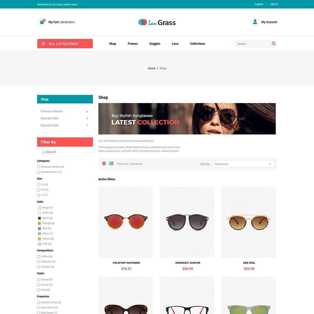 theme - Fashion & Shoes - Eyeware  Sunglass - Lens Store - 3