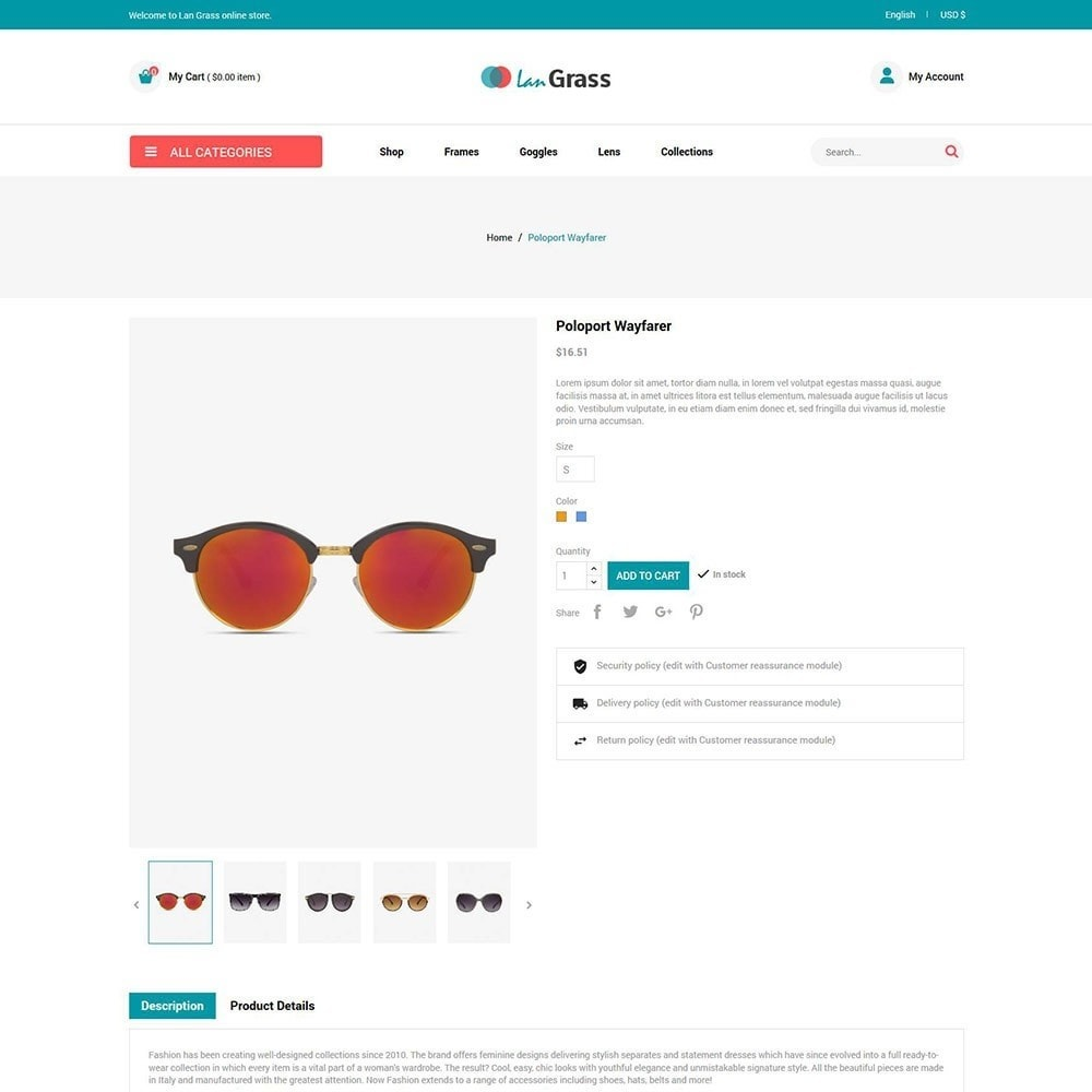 theme - Fashion & Shoes - Eyeware  Sunglass - Lens Store - 5