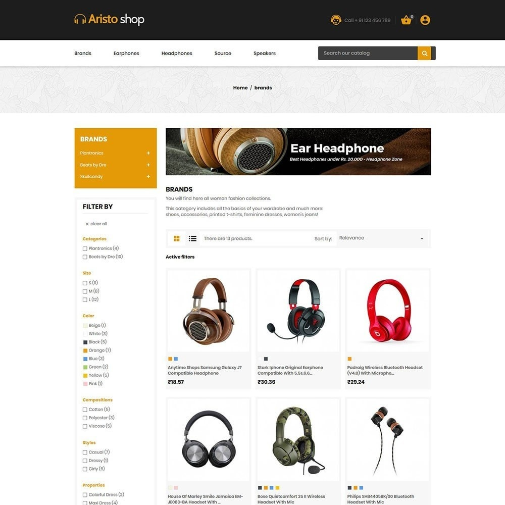theme - Electronics & Computers - Headphone - Earphone Mobile Electronics Store - 3