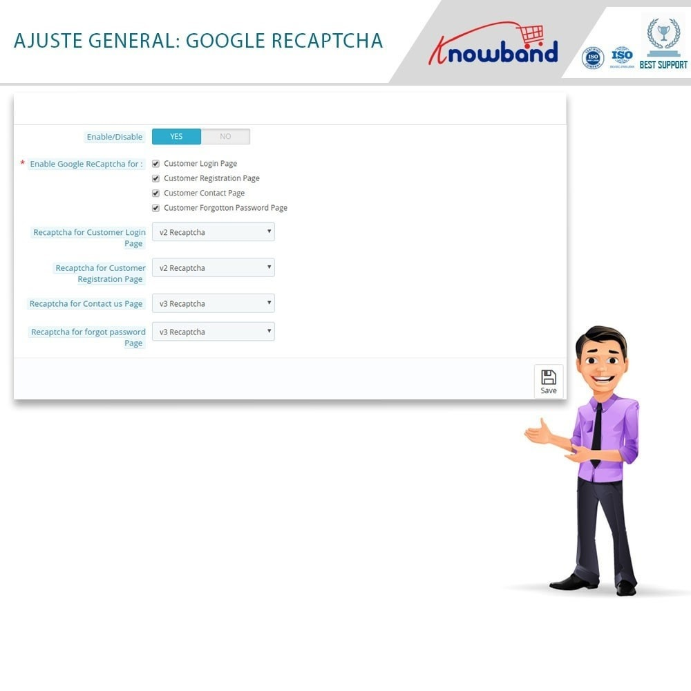 bundle - Seguridad y Accesos - Security Pack - reCaptcha, Private Shop, Block Spam - 5