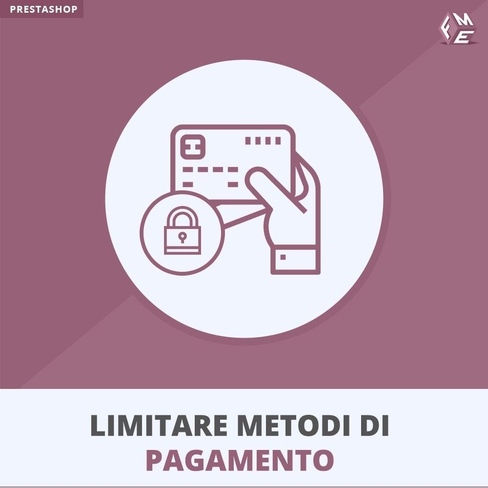 module - Altri Metodi di Pagamento - Limitare I Metodi Di Pagamento - 1
