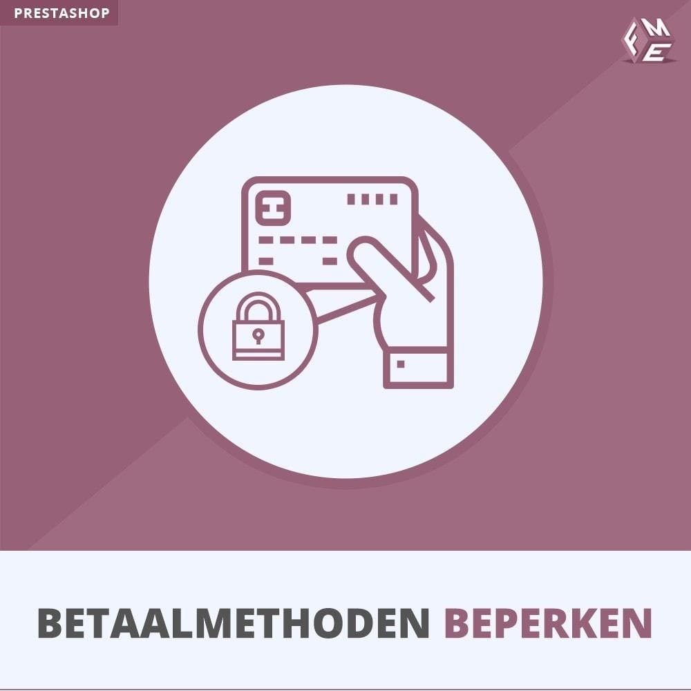 module - Andere betaalmethodes - Betaalmethoden Beperken - 1