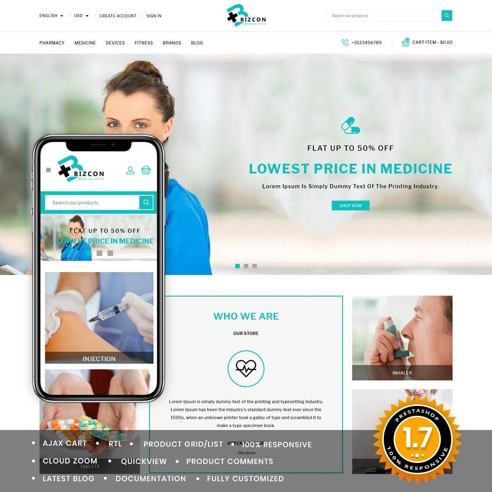 theme - Health & Beauty - Bizcon Medicine Shop - 1