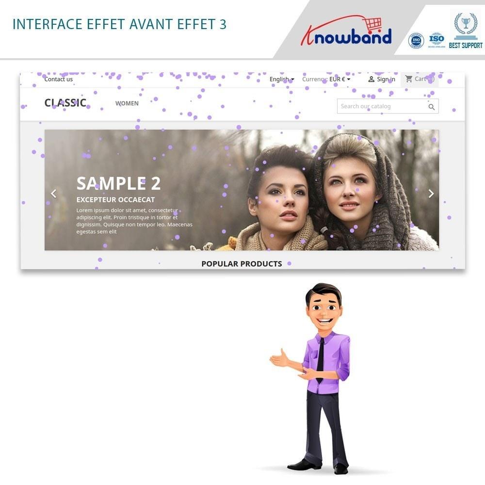 module - Personnalisation de Page - Knowband - Website Decoration Effects - 2