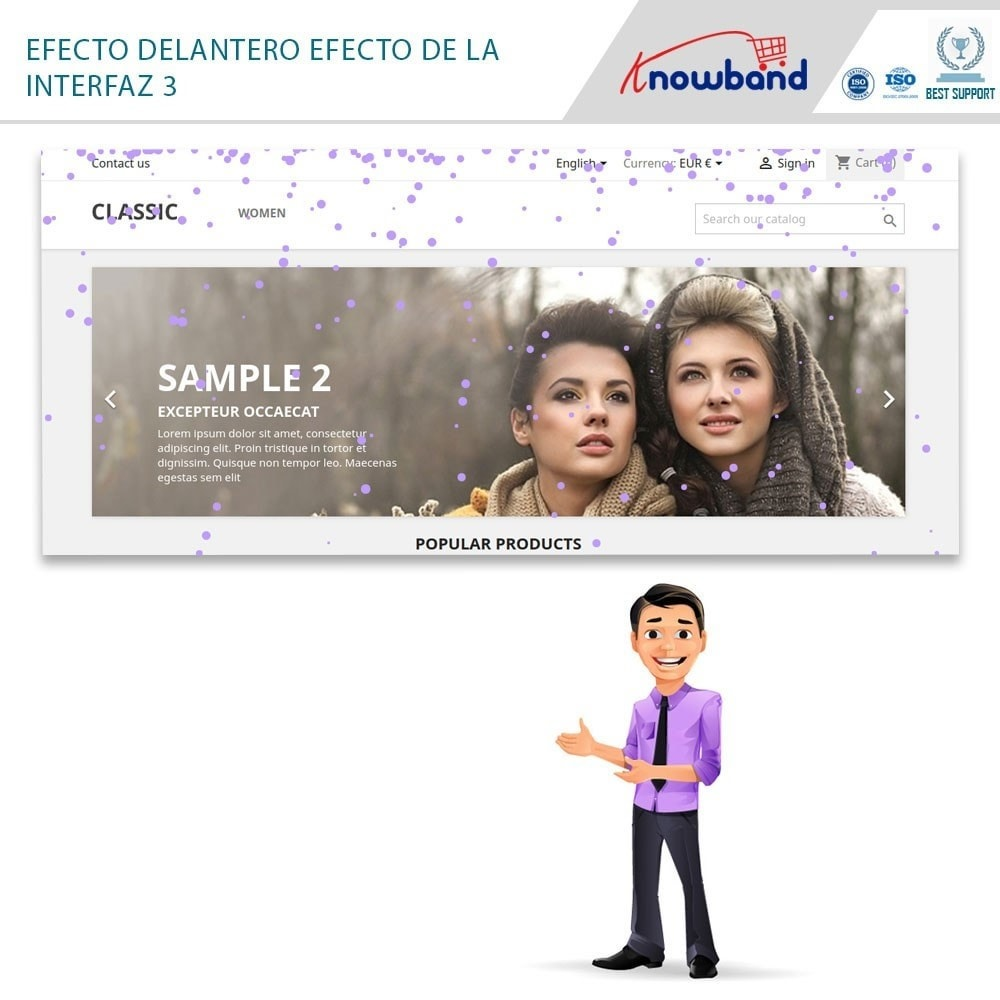 module - Personalización de la página - Knowband - Website Decoration Effects - 3