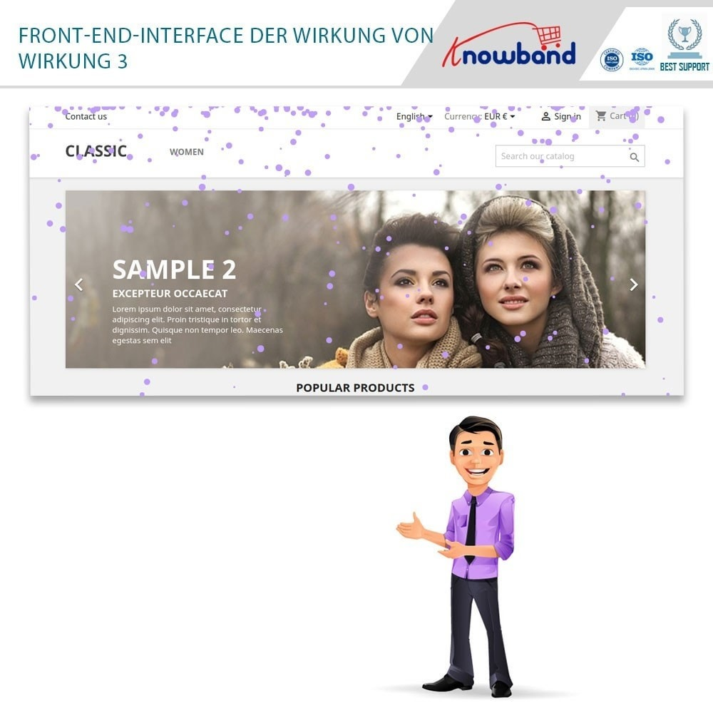 module - Individuelle Seitengestaltung - Knowband - Website Decoration Effects - 2