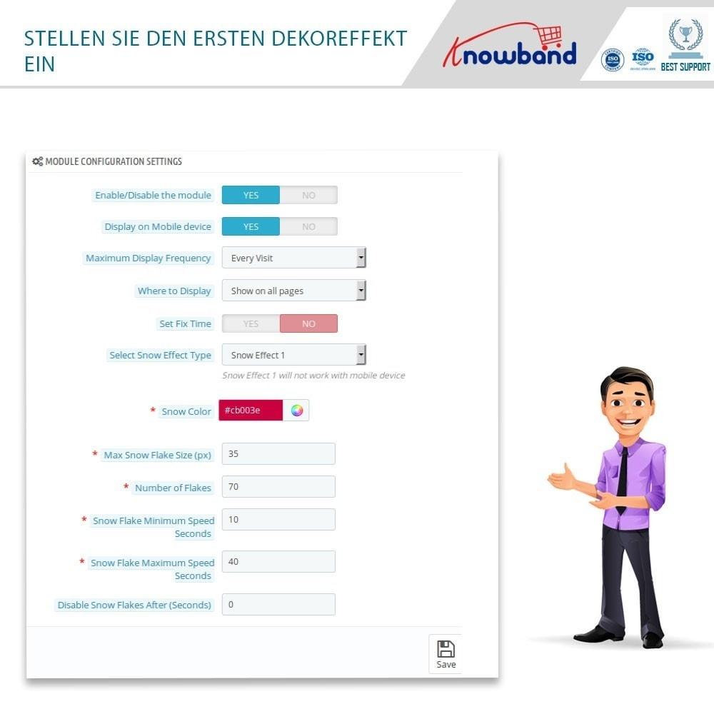 module - Individuelle Seitengestaltung - Knowband - Website Decoration Effects - 4