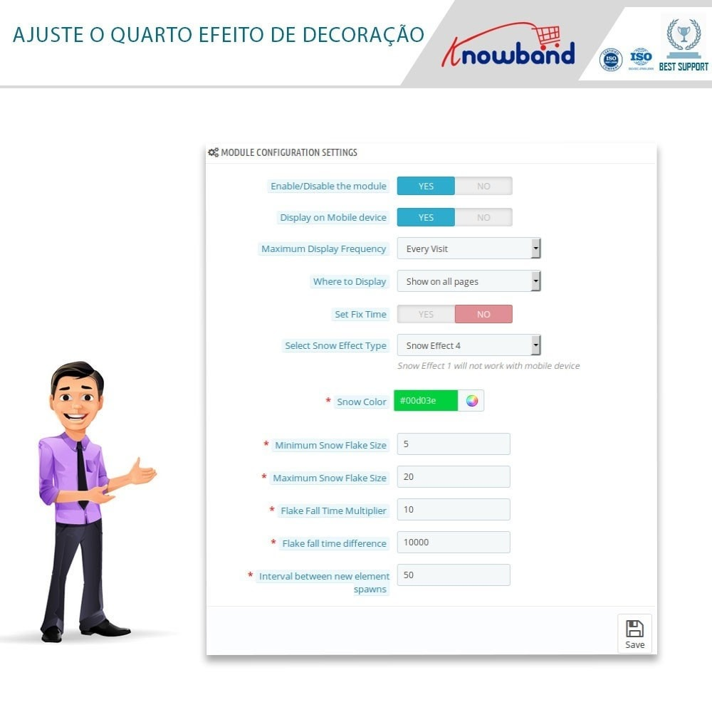 module - Personalização de página - Knowband - Website Decoration Effects - 6