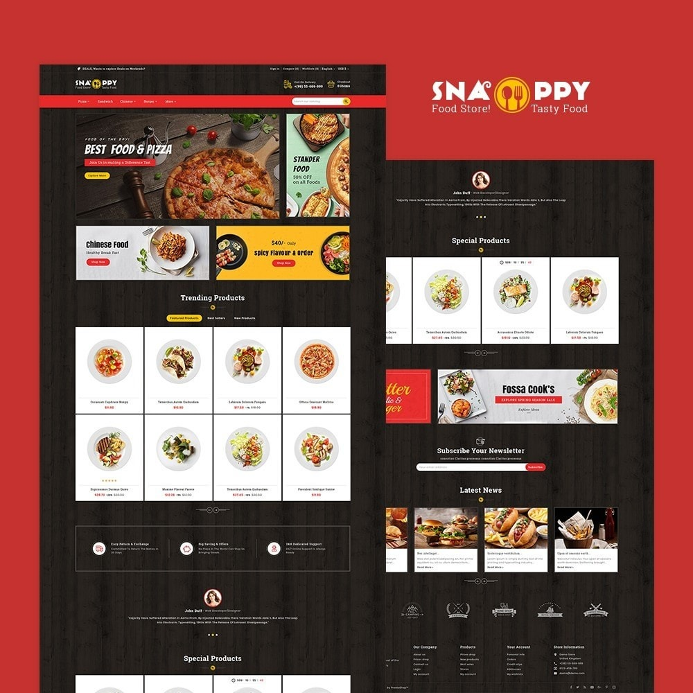 theme - Food & Restaurant - Snappy - Fast Food - 2